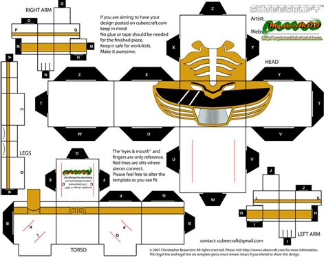 Papercraft Power Rangers - mmpr white ranger by mystermdd on deviantart