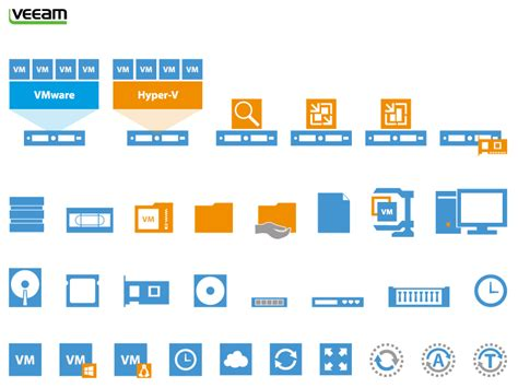visio icons for powerpoint veeam free visio stencils for vmware and hyper v