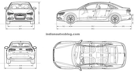 Audi A6 Size Dimensions by Audi India Launches All New A6 At Rs 37 7 Lac Wheel O Mania