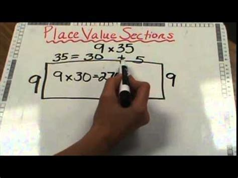 place value sections method place value sections method youtube