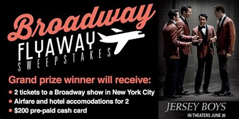 Broadway Sweepstakes - livenation com the broadway flyaway sweepstakes sweepstakesbible