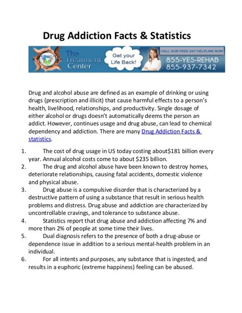 thesis about drug education drug addiction facts statistics