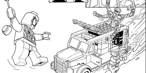 free coloring pages of lego spiderman car