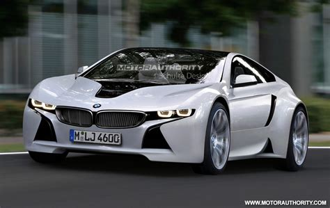 rendered bmw sports car based on vision efficientdynamics