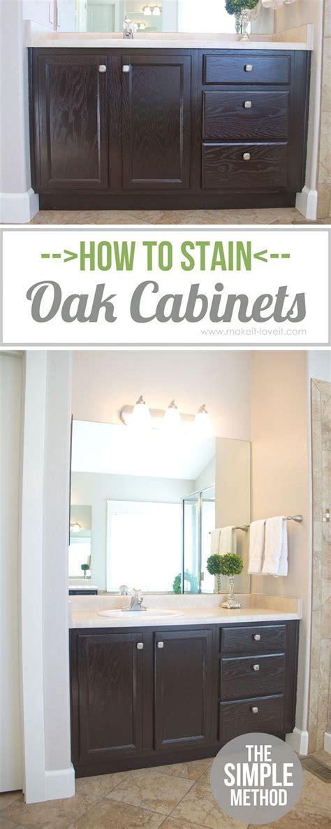 stain oak cabinetsthe simple method