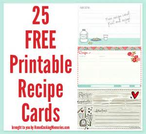 recipe template free 25 free printable recipe cards home cooking memories