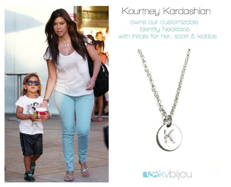 kourtney kardashian children s initial necklace 17 best images about celebrity love as seen on on