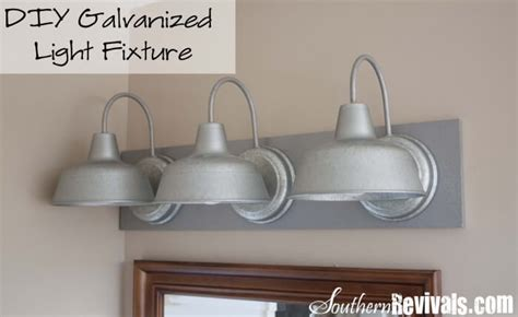Diy Bathroom Light Fixtures Diy Galvanized Light Fixture