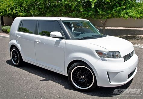 scion xb 18 wheels 2013 scion xb with 18 quot enkei lusso in black machined
