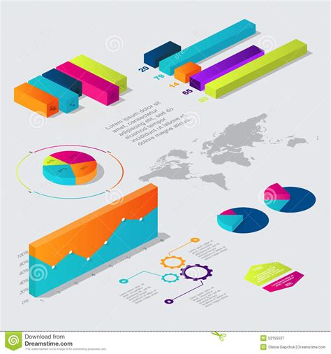web layout vector flat 3d isometric infographic for your business