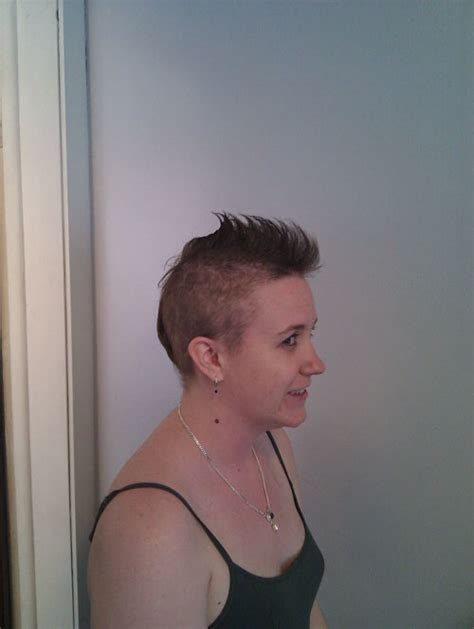 pre chemo mohawk hair to mohawk to bald chemotherapy for breast cancer