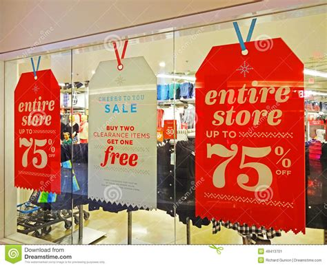 post christmas sale stock image image of discount sale