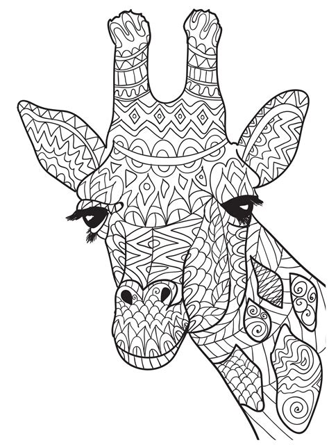 giraffe mandala coloring pages ten adult coloring pictures for people who love april the