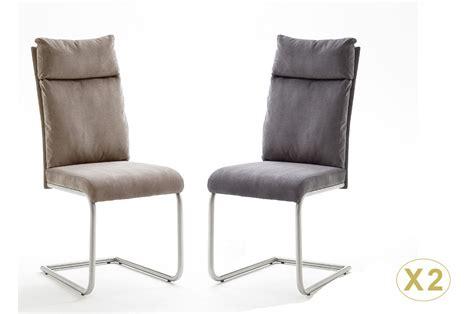 chaise salle a manger gris chaises design tissu et acier cbc meubles