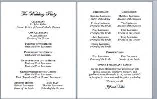 wedding church program template spirals spatulas catholic wedding program