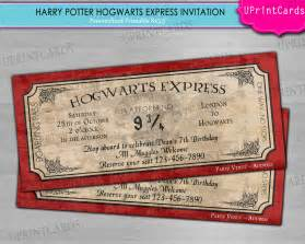 diy printable hogwarts express harry potter ticket birthday personalized digital