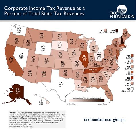 map of us corporate income tax cdoovision