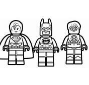 Lego Batman And Superman With Green Lantern