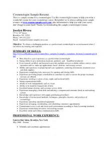 Cosmetologist Resume Example Cosmetology Resume 2015 Resume Template Builder