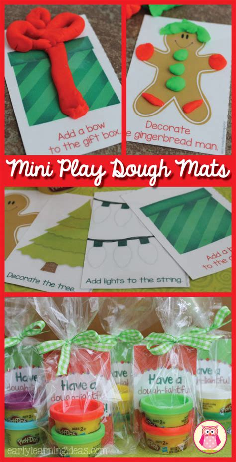 holiday play dough mats free printable mini mats gift