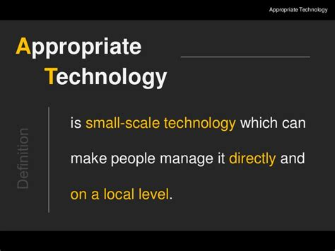 suitable meaning appropriate technology