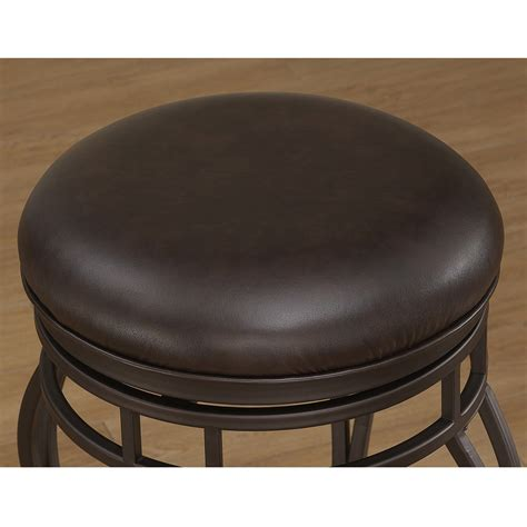Taupe Leather Bar Stools by Villa Backless Bar Stool Taupe Gray Russet Brown