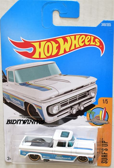 Hotwheels Custom 62 Chevy Blue With Surfing Board wheels 2017 surf s up custom 62 chevy 1 5 white 0002656 5 53 biditwinit09
