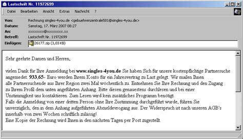 Freiberufler Rechnung Per Email Tu Berlin Hoax Info Service Weblog Archiv Maerz 2007