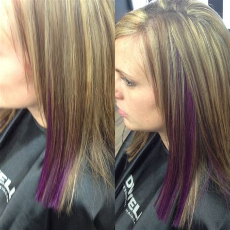 light brown hair with partial highlights light brown hair with purple highlights google search