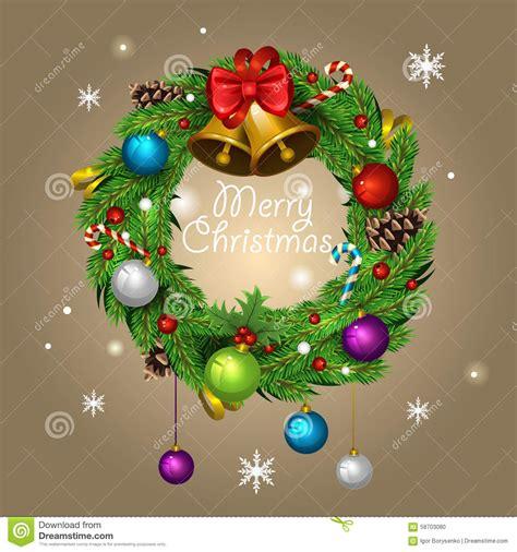 christmas wreath stock vector image 58703080