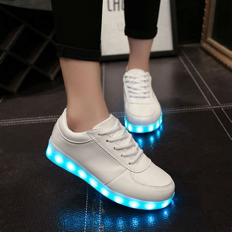 Sepatu Adidas Fila Led Best Seller 7 colors luminous shoes unisex led glow shoe fashion usb rechargeable light led
