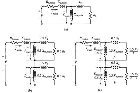 single phase induction motor equivalent circuit diagram