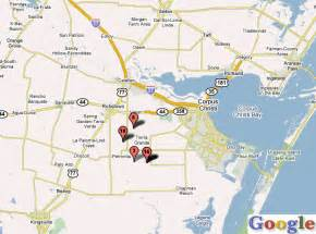 corpus christi map map travel vacations