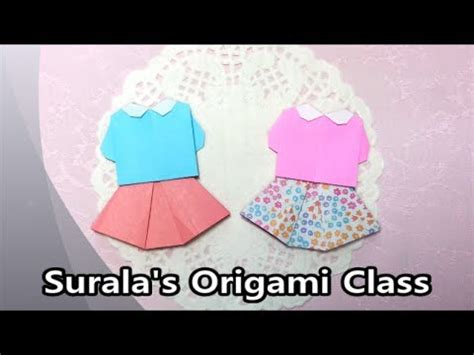 Origami Blouse - origami blouse skirt 종이접기 블라우스와 치마