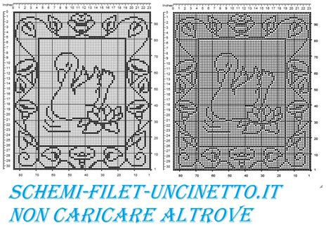tende all uncinetto schemi gratis tenda cigno con cornice schema filet uncinetto gratis