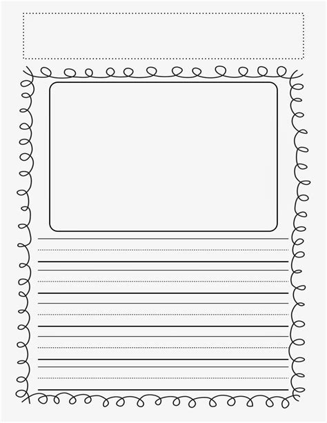 writing paper with picture box printable story writing paper for kindergarten smart