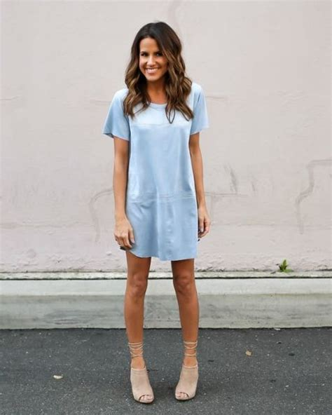 light blue womens dress shoes picture of light blue dress with neutral lace up shoes