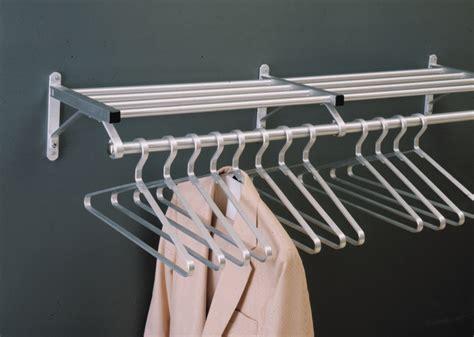 Shelf With Hanger Bar by Modular Coat Rack 1 Shelf With Hanger Bar