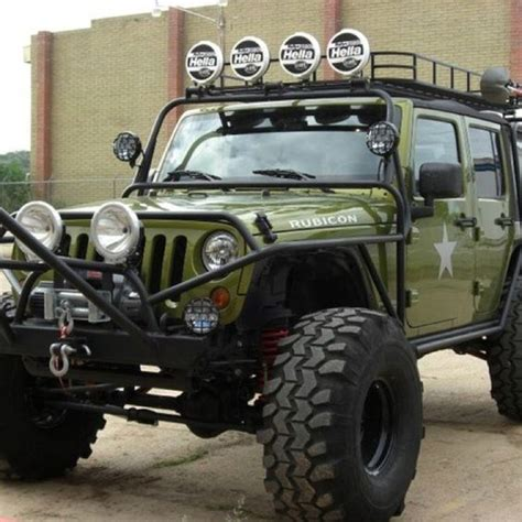 raised jeep my an army green jeep with raised suspension