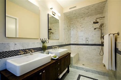 Open Shower Bathroom Open Shower Design Contemporary Bathroom Carlyle Designs