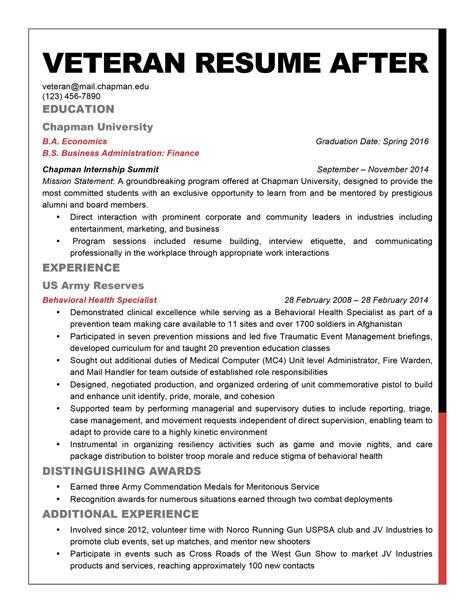 Veteran Resume Template Resume Cover Letter Template Veteran Resume Template
