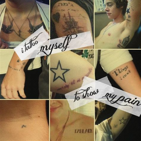 how many tattoos does harry have which member of one direction was the most tattoos one