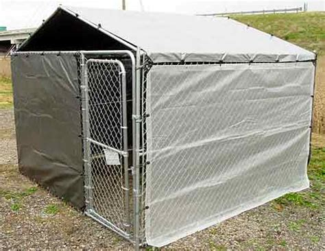 10x10 kennel cover side tarp winter bundle special for 10x10 kennels tarps and enclosures protect