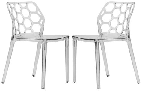 clear plastic dining chairs dynamic modern acrylic dining chair in clear set of 2 ebay