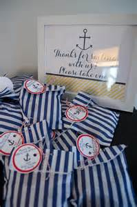 Nautical Theme Favors by Rivernorthlove Nautical Navy Yellow Baby Shower