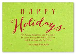 green cards on seeded paper greetings by green business print
