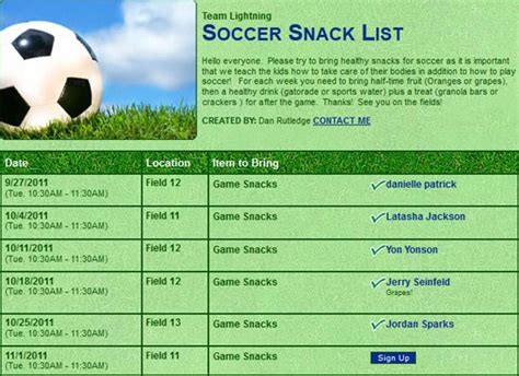 snack sign up template signupgenius helping you create sign up lists