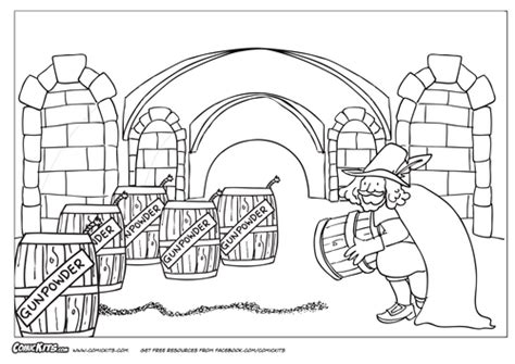 The Gunpowder Plot Comic Kit By Comickits Teaching Fawkes Colouring Pages