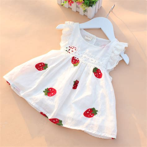 Dress Of The Day B With G Baby Doll Dress by Baby Dress Baby Summer Embroidery Flower Cotton Dress