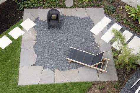 terrasse kies gartengestaltung mit kies ideen mit naturstein und gr 228 sern